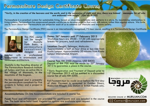 Permaculture Design Certificate Course Poster