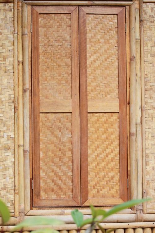 bamboo natural door