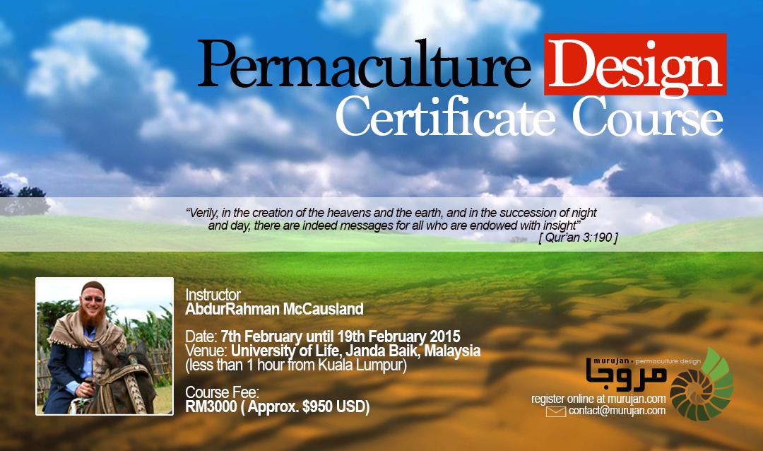 Murujan Permaculture Design Certificate Poster Registration Malaysia Giovanni Galluzzo